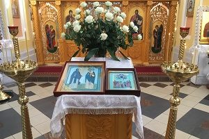 Богослужение на годовщину восстановления Обители